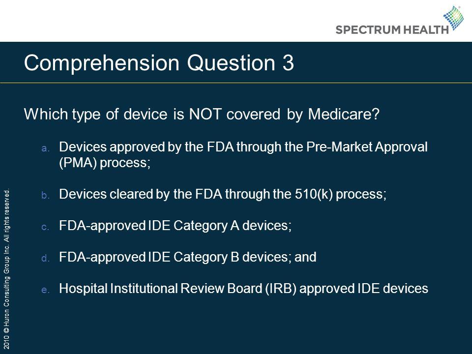 Comprehension Question 3