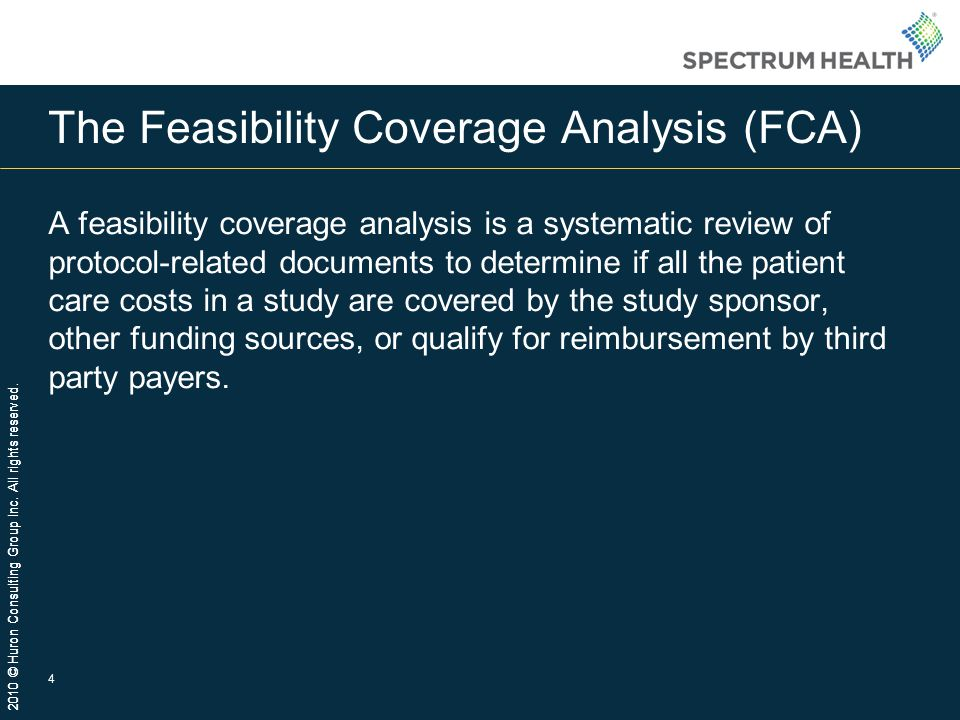 The Feasibility Coverage Analysis (FCA)