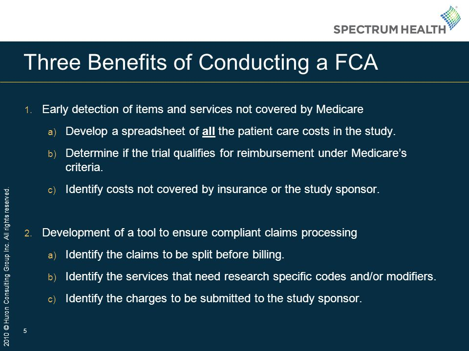 Three Benefits of Conducting a FCA