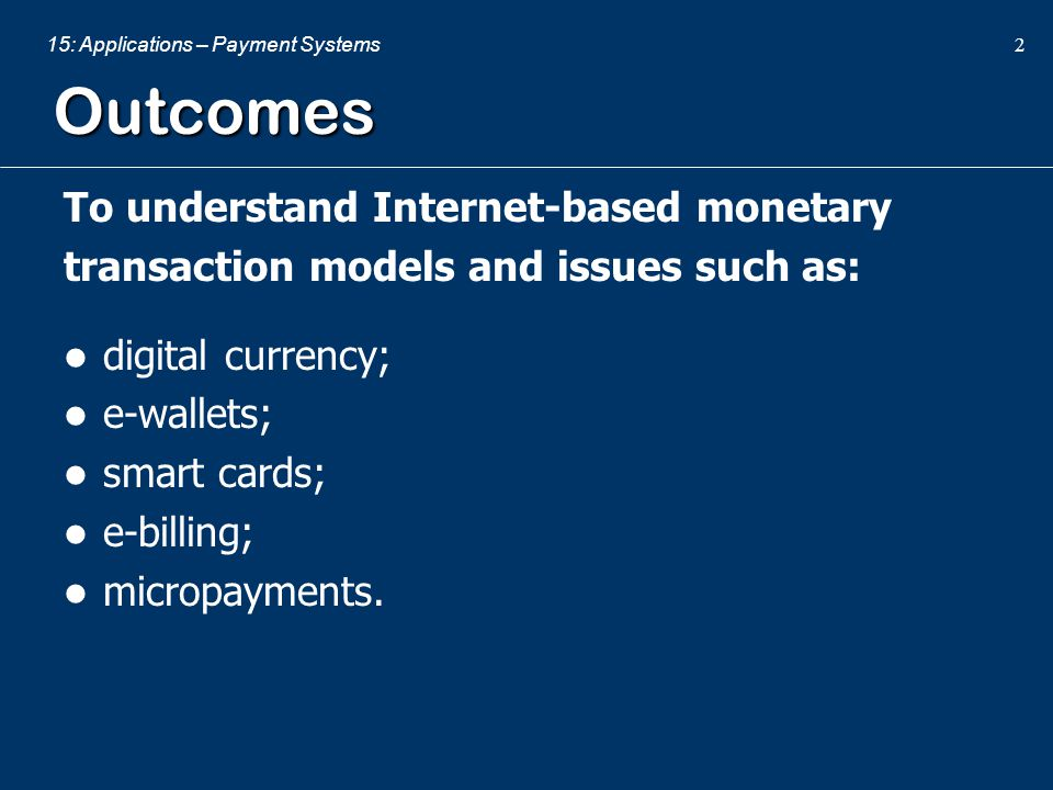 Outcomes To understand Internet-based monetary