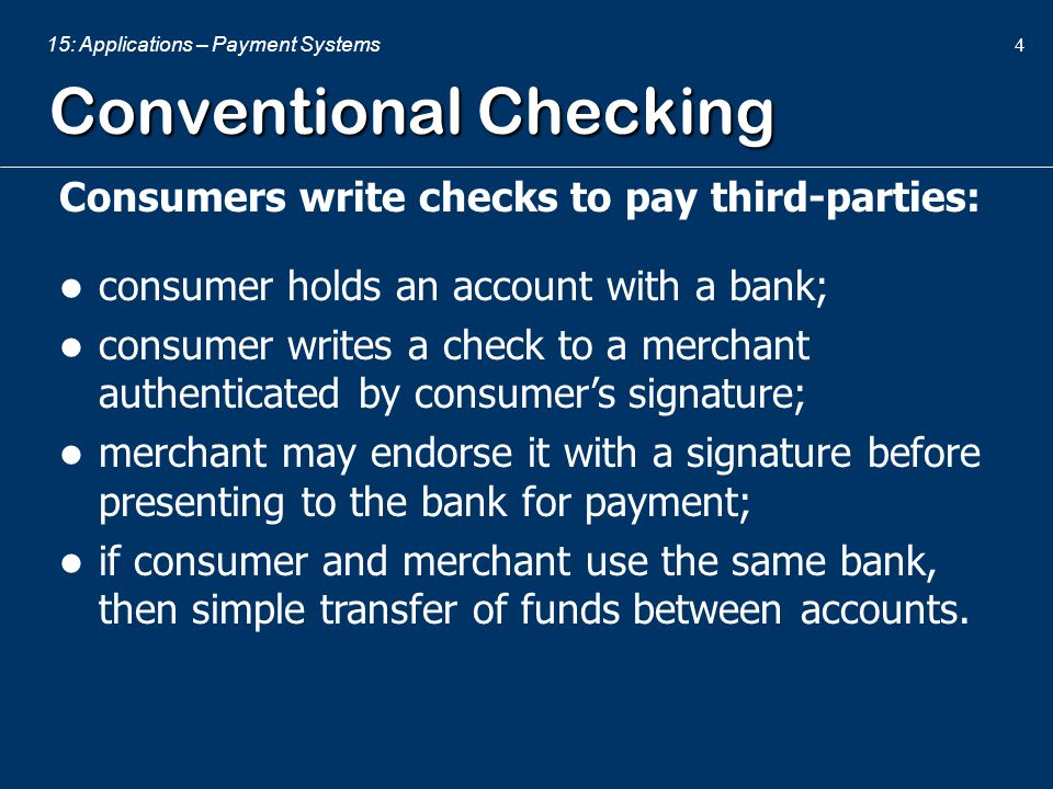 Conventional Checking