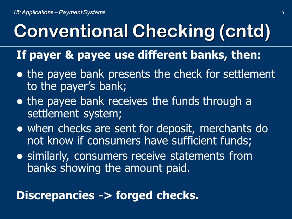 Conventional Checking (cntd)