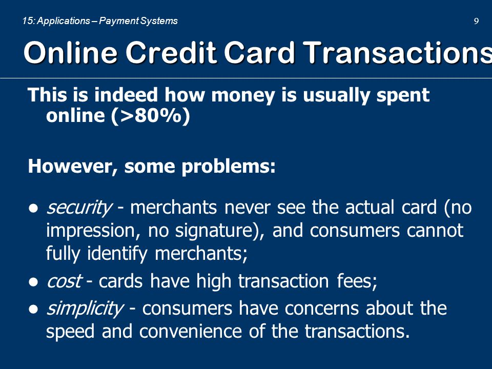 Online Credit Card Transactions