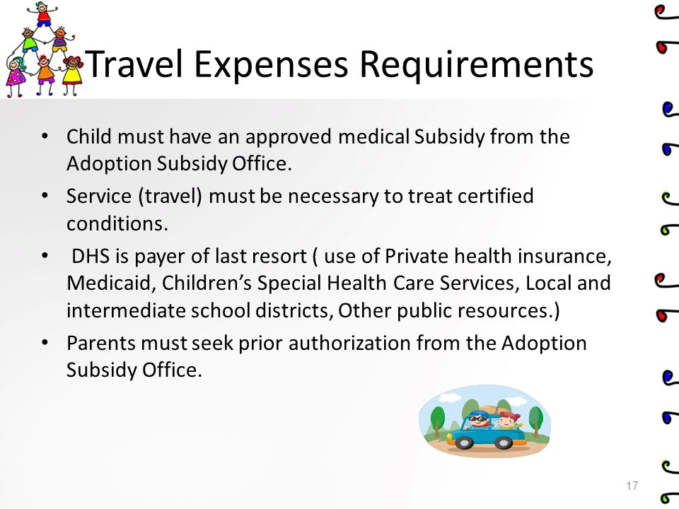 Travel Expenses Requirements