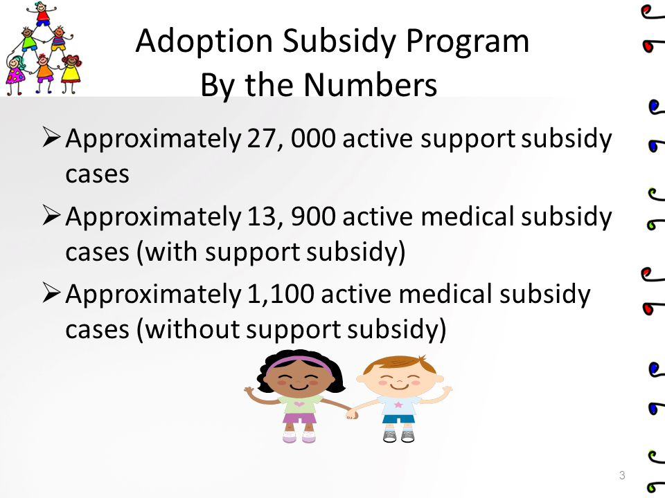 Adoption Subsidy Program By the Numbers