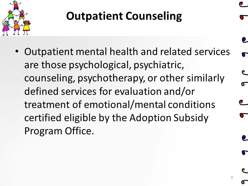 Outpatient Counseling