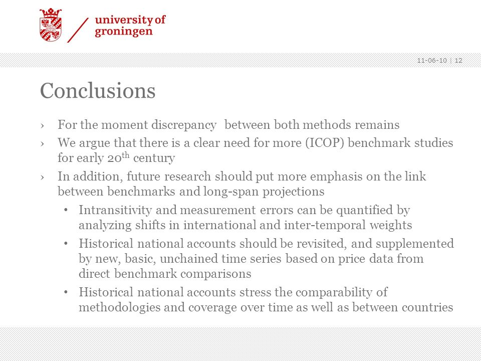 Conclusions For the moment discrepancy between both methods remains
