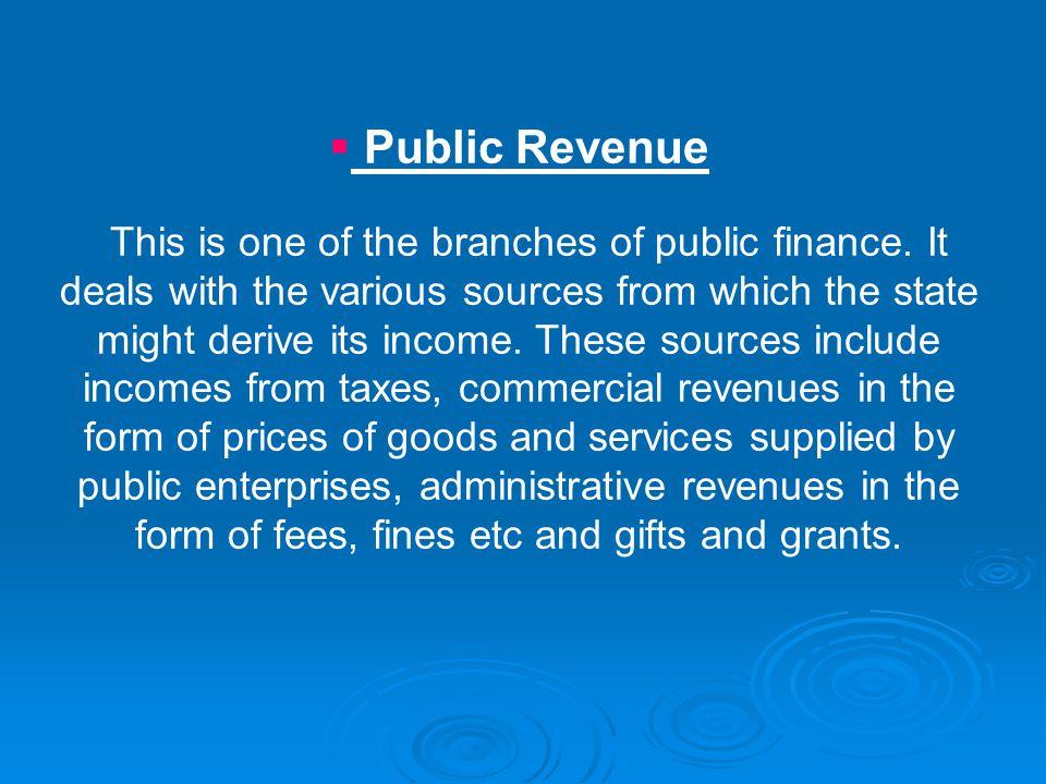 Public Revenue
