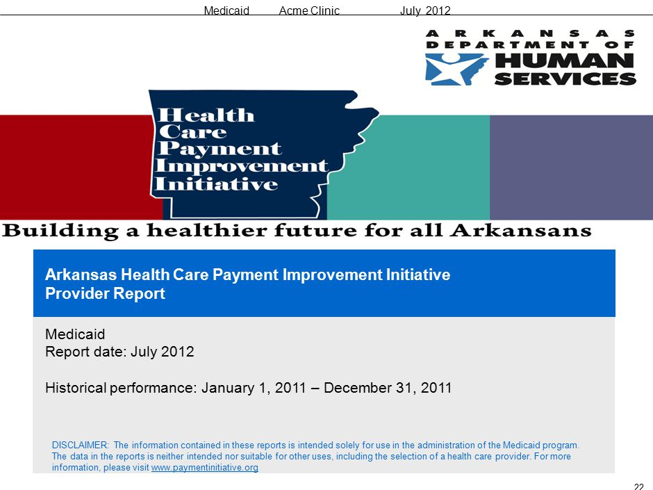 Medicaid Acme Clinic July 2012