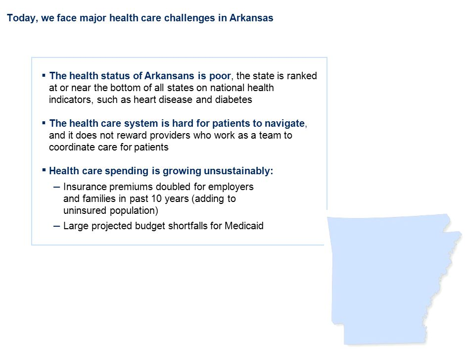 DCO-AAA123-20110905- Our vision to improve care for Arkansas is a comprehensive, patient-centered delivery system…