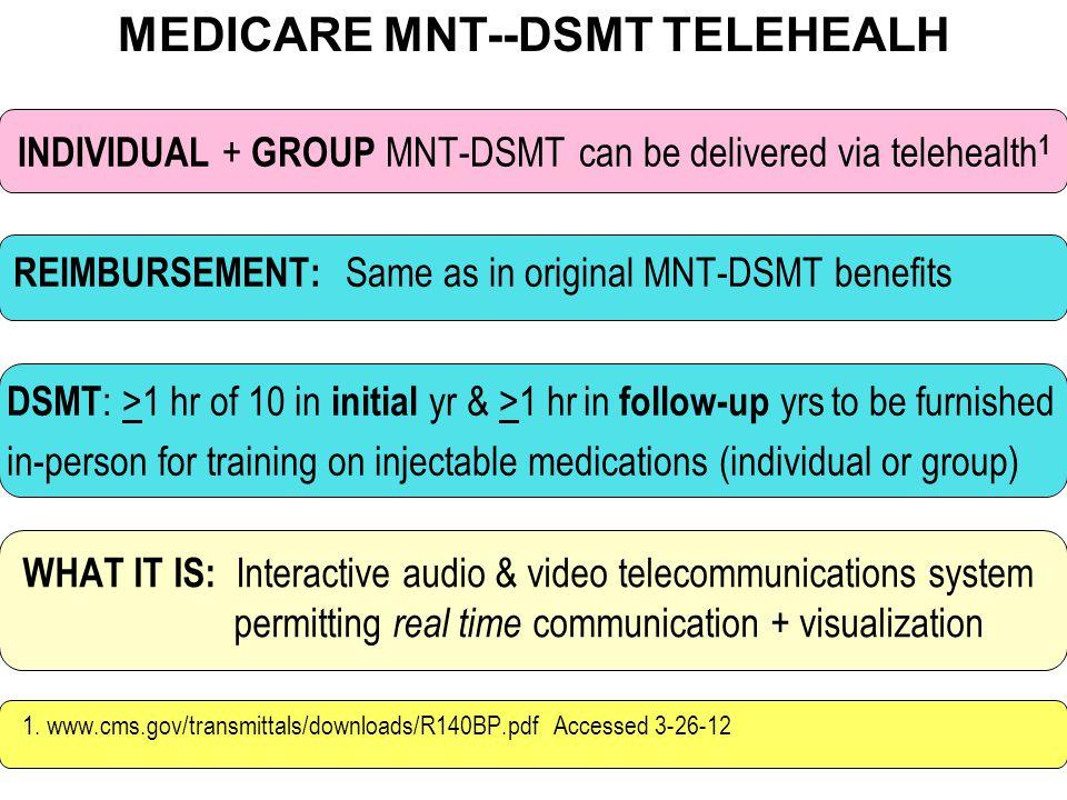 MEDICARE MNT--DSMT TELEHEALH