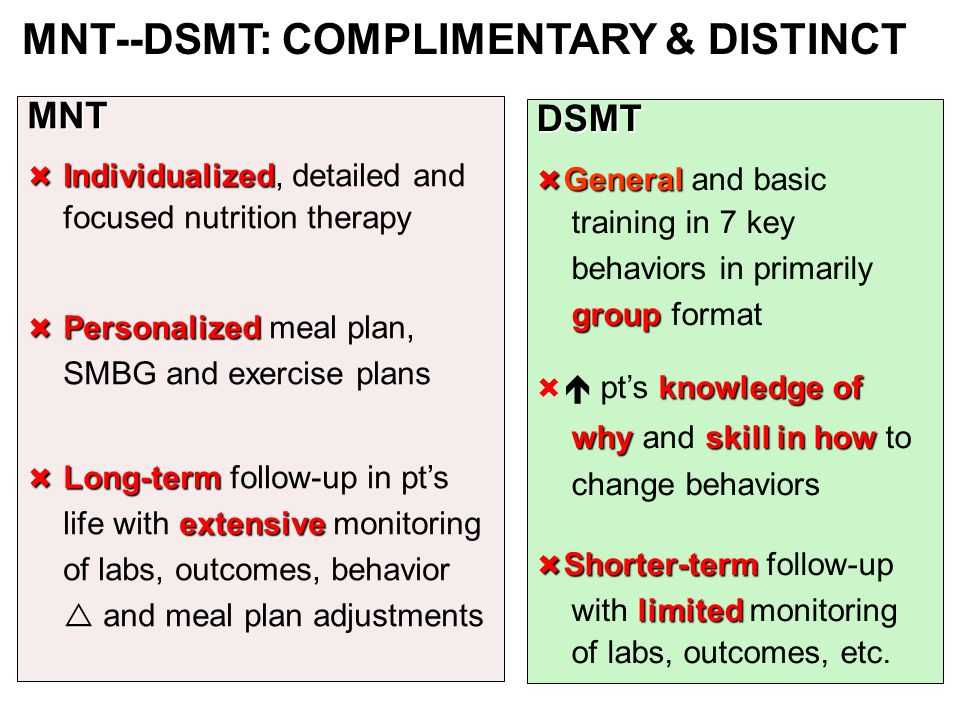 MNT--DSMT: COMPLIMENTARY & DISTINCT