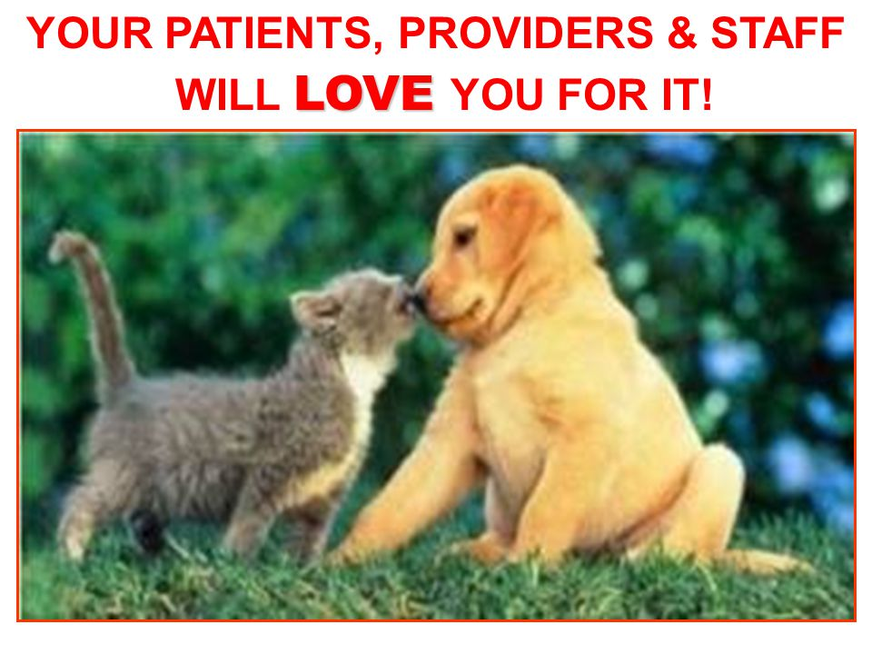 YOUR PATIENTS, PROVIDERS & STAFF WILL LOVE YOU FOR IT!