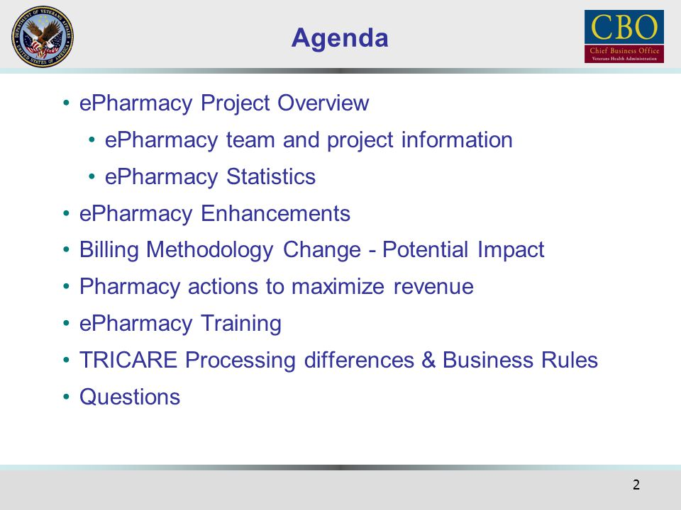 Agenda ePharmacy Project Overview