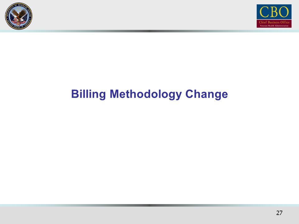 Billing Methodology Change