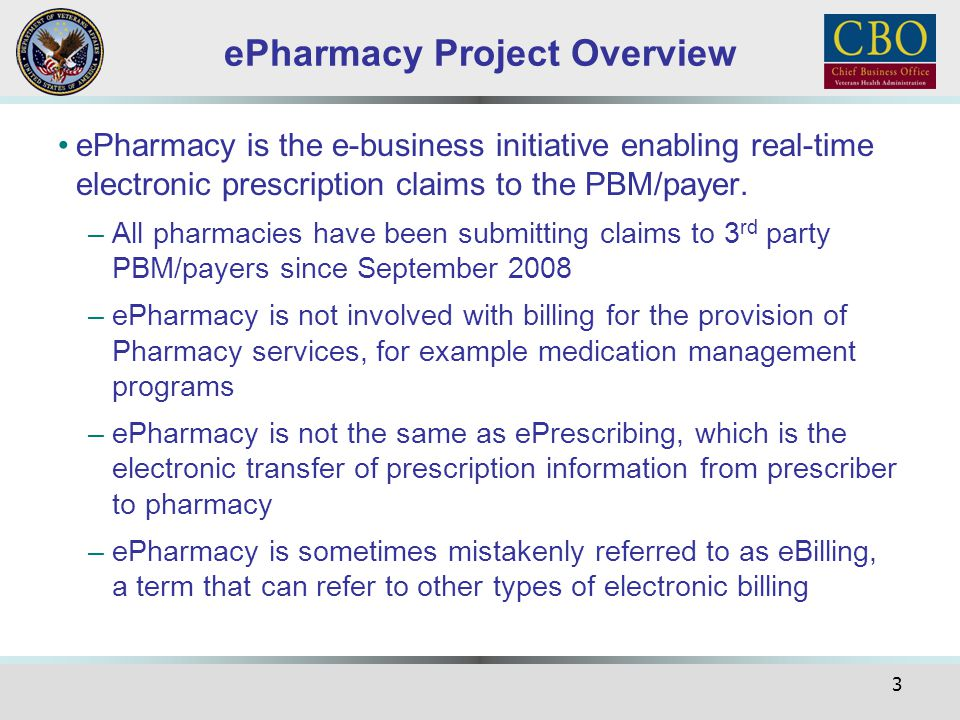 ePharmacy Project Overview