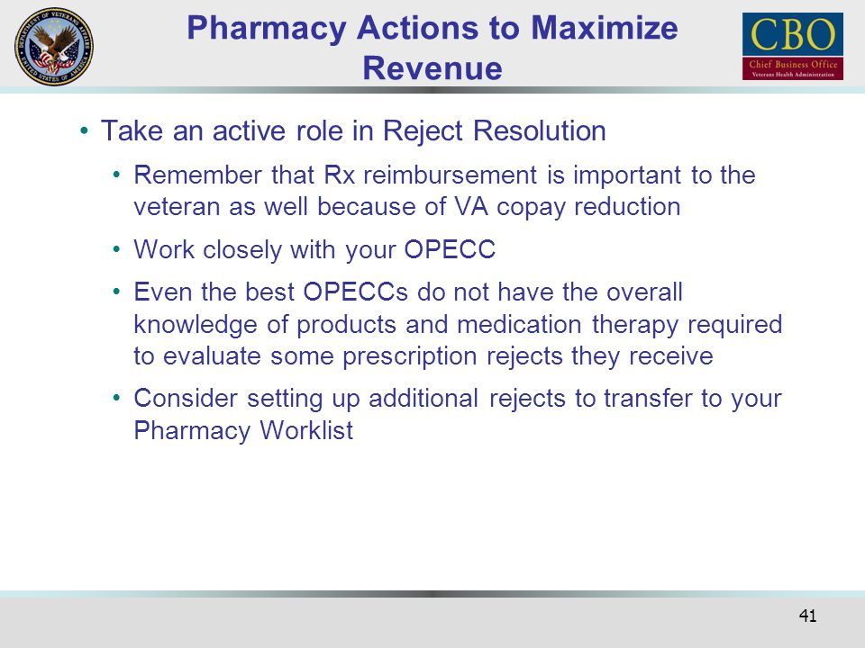 Pharmacy Actions to Maximize Revenue