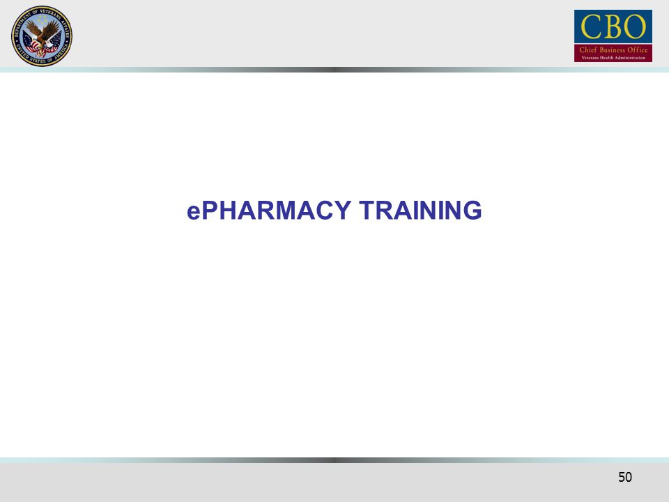 ePHARMACY TRAINING