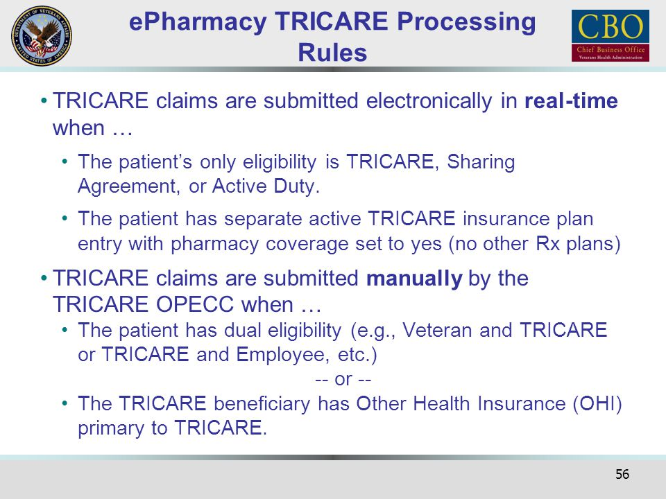 ePharmacy TRICARE Processing Rules