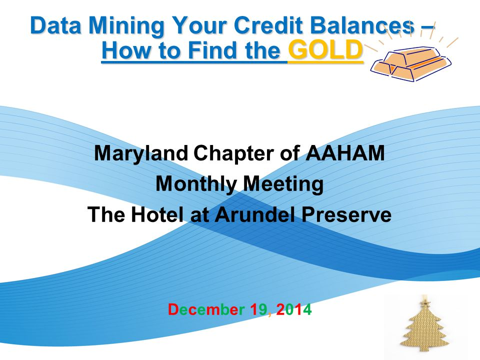 Data Mining Your Credit Balances – How to Find the GOLD