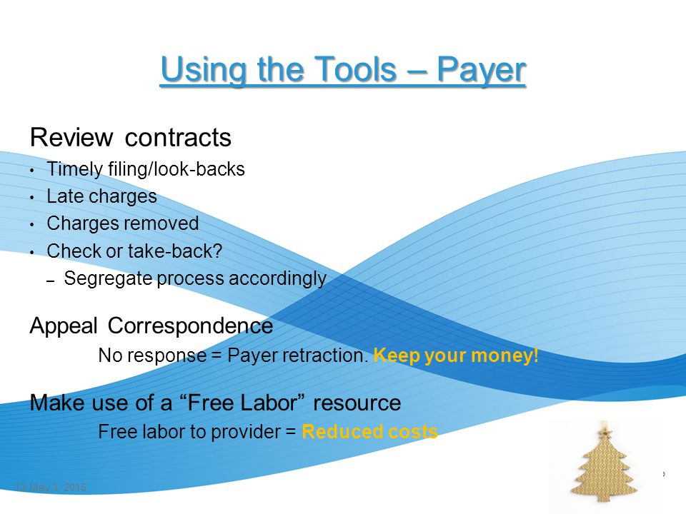 Using the Tools – Payer Review contracts Appeal Correspondence