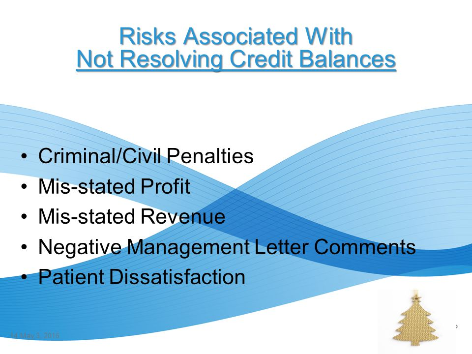 Risks Associated With Not Resolving Credit Balances