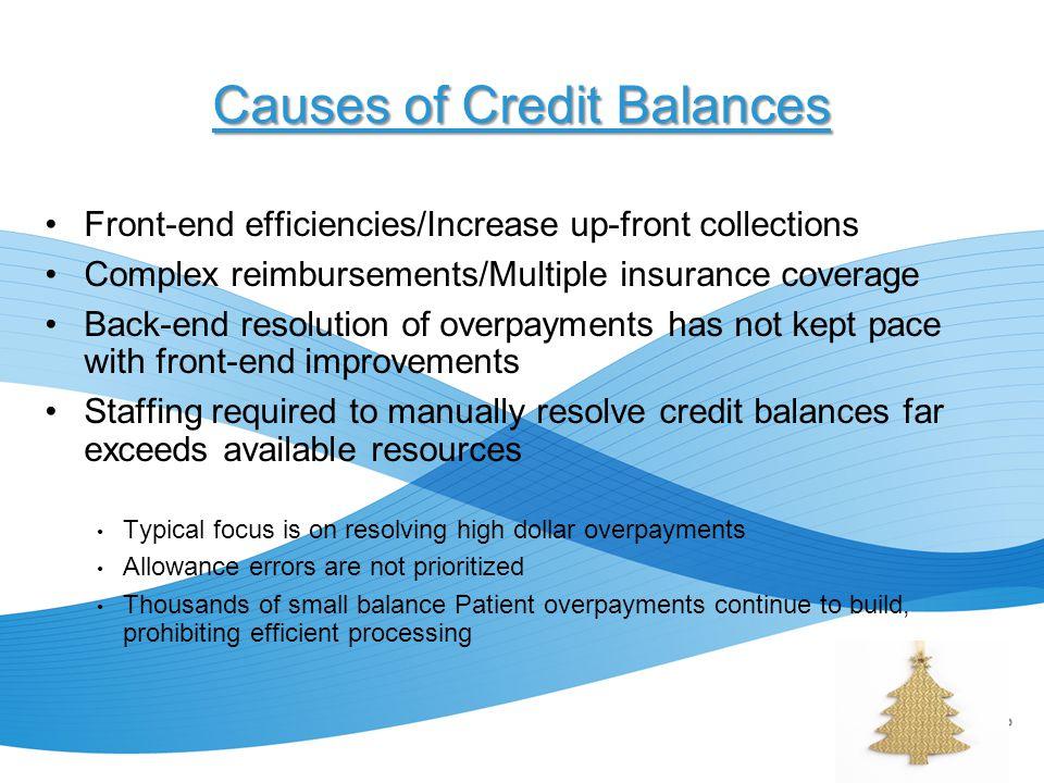 Causes of Credit Balances