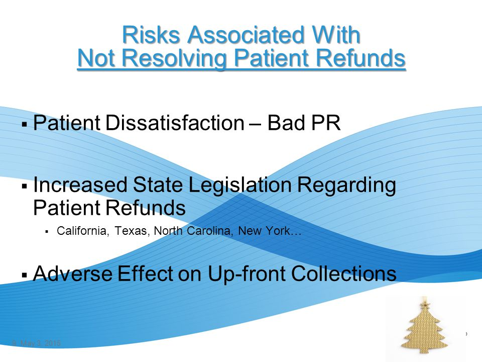 Risks Associated With Not Resolving Patient Refunds