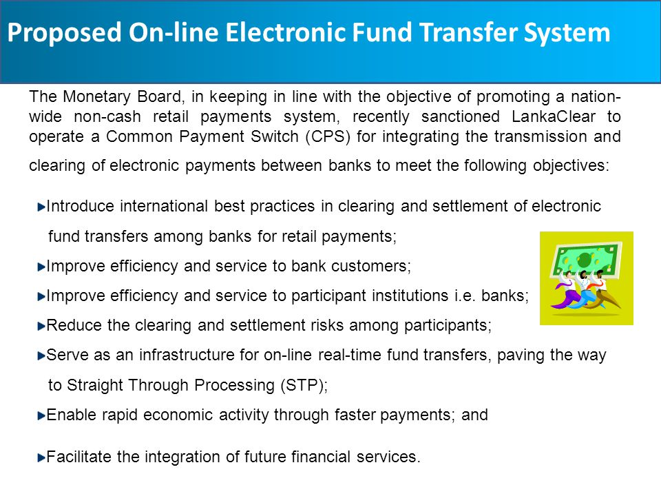 Proposed On-line Electronic Fund Transfer System