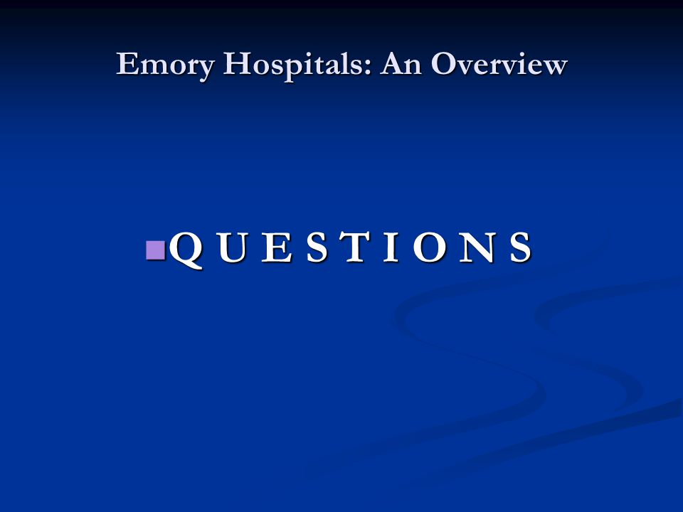 Emory Hospitals: An Overview