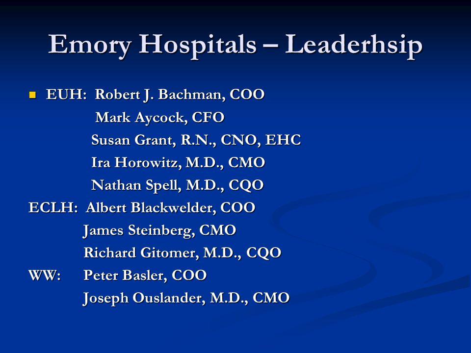 Emory Hospitals – Leaderhsip