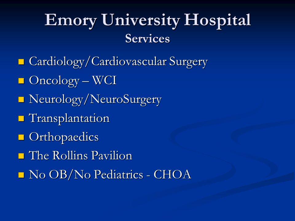 Emory University Hospital Services