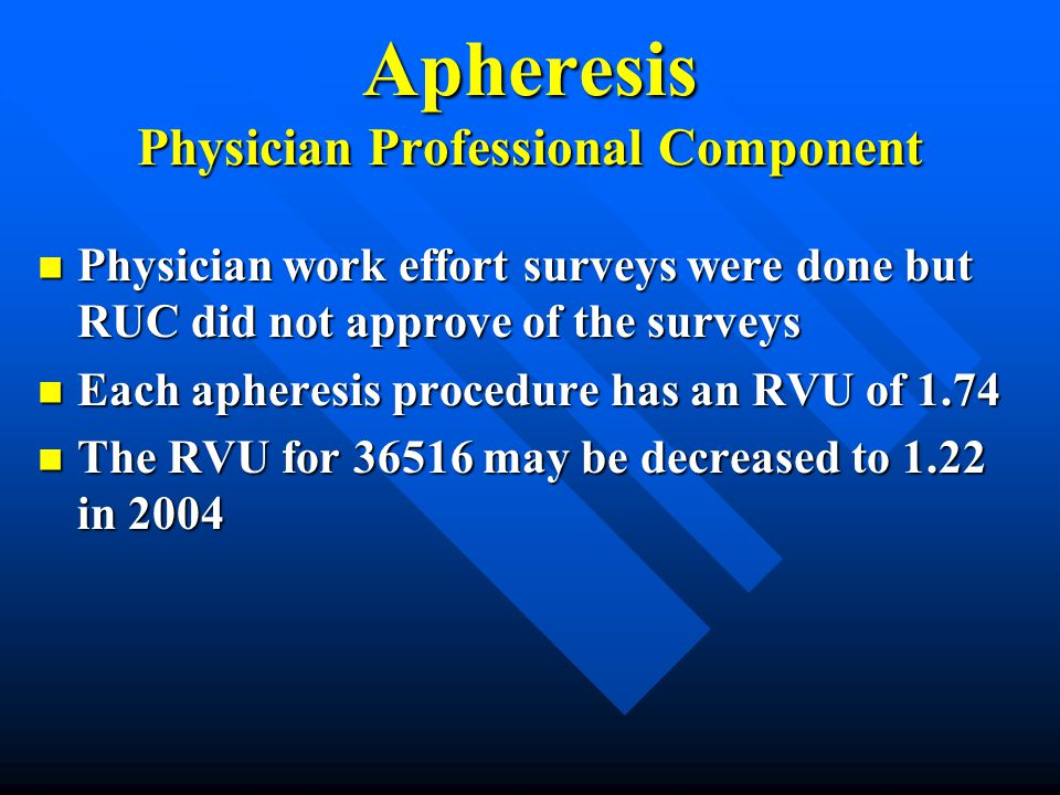 Apheresis Physician Professional Component