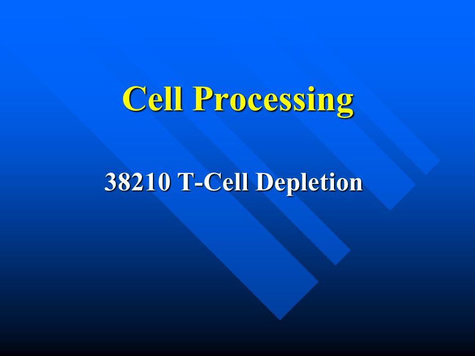 Cell Processing 38210 T-Cell Depletion