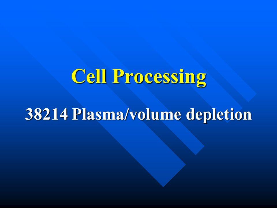 38214 Plasma/volume depletion