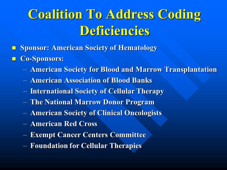 Coalition To Address Coding Deficiencies