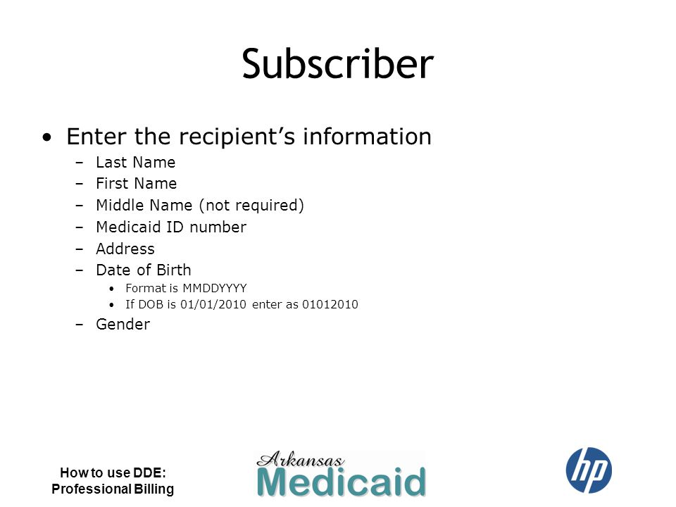 Subscriber Enter the recipient's information Last Name First Name