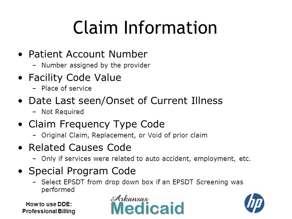Claim Information Patient Account Number Facility Code Value