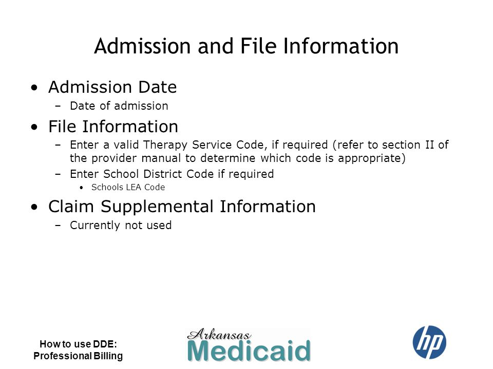 Admission and File Information