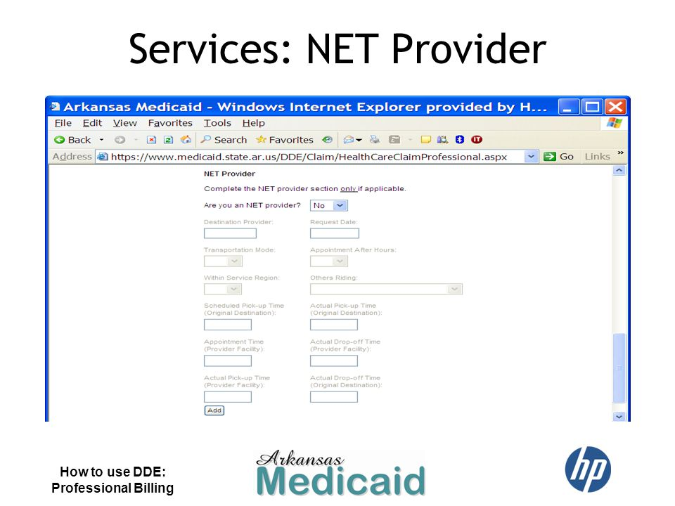 Services: NET Provider