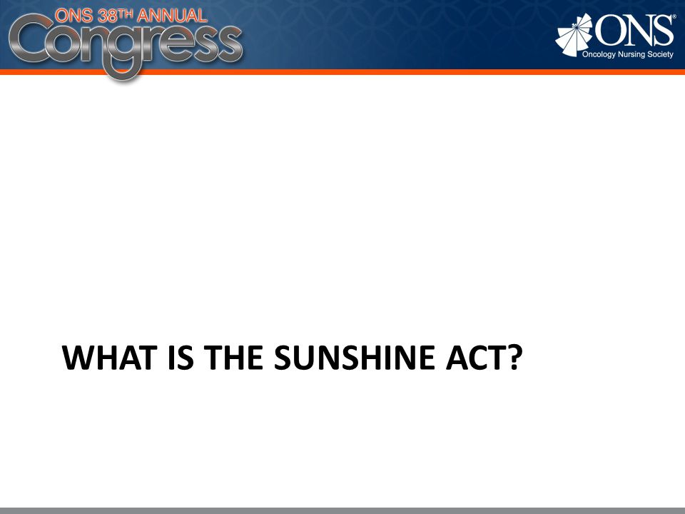 What Is the Sunshine Act