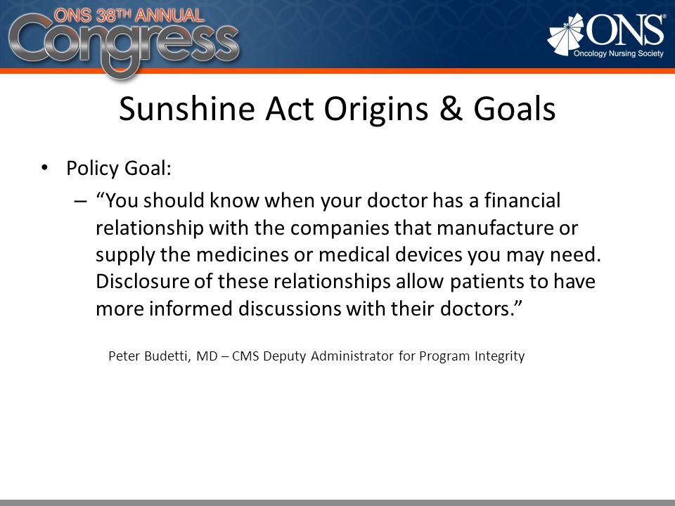 Sunshine Act Origins & Goals
