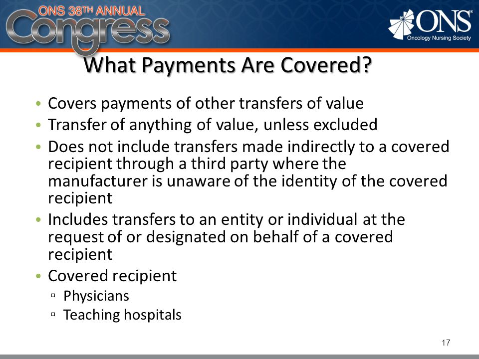 What Payments Are Covered