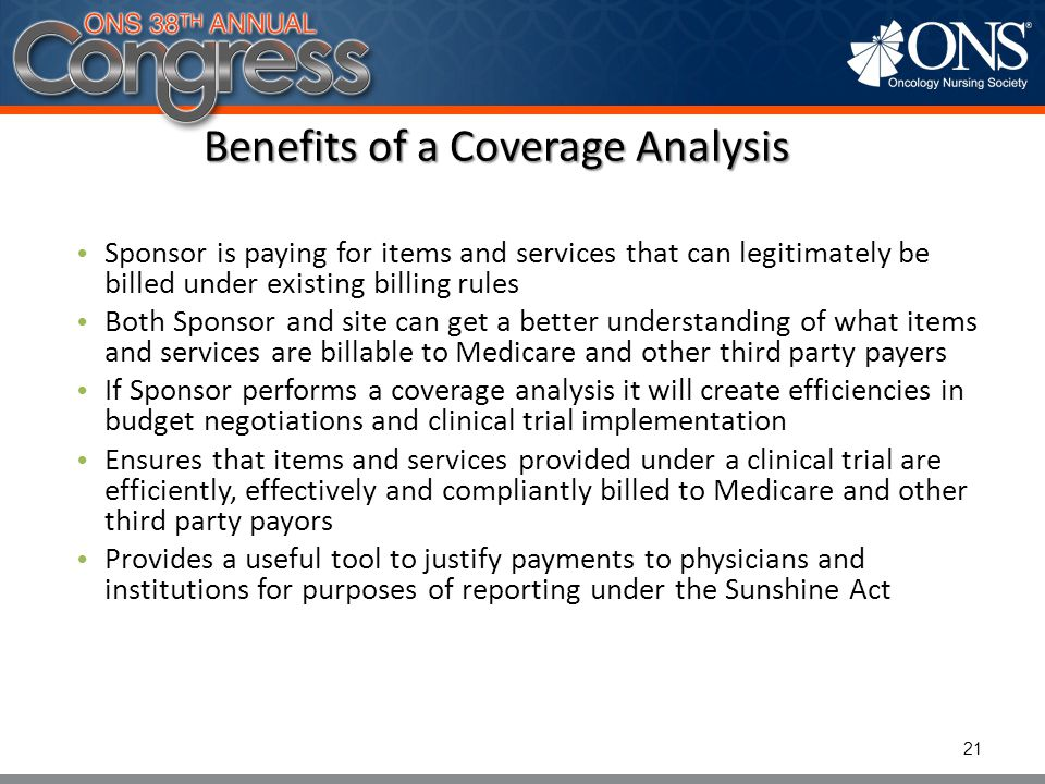 Benefits of a Coverage Analysis