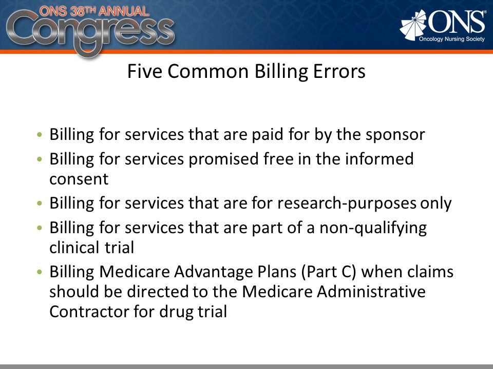 Five Common Billing Errors