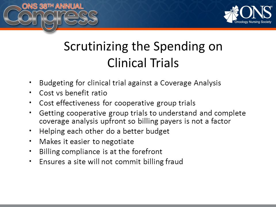 Scrutinizing the Spending on Clinical Trials