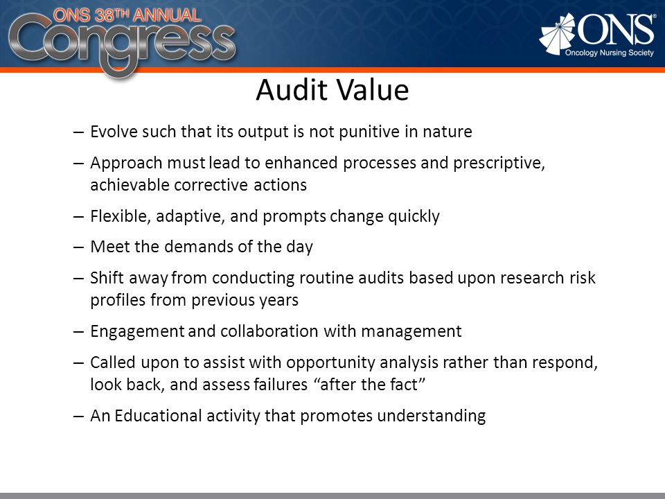 Audit Value Evolve such that its output is not punitive in nature