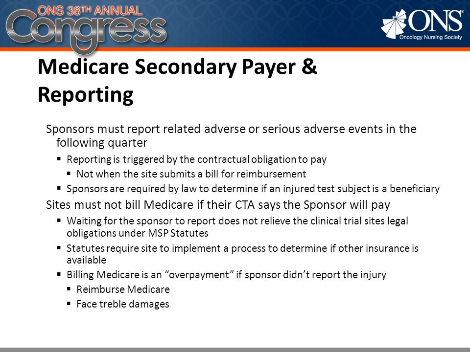 Medicare Secondary Payer & Reporting