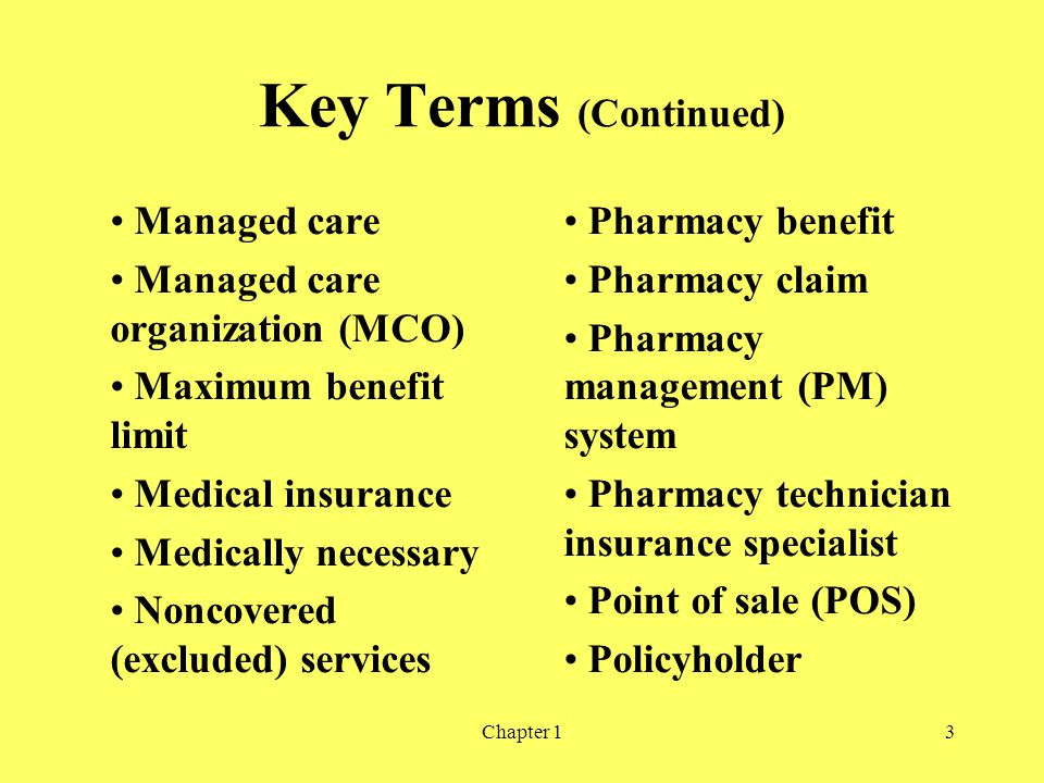 Key Terms (Continued) Managed care Managed care organization (MCO)