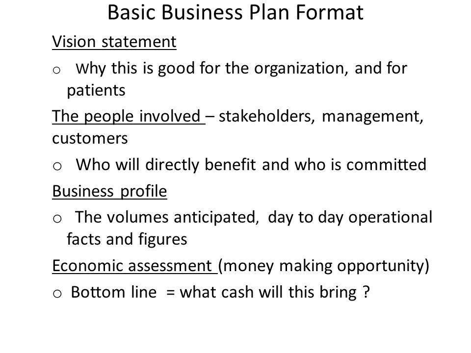 basic business plan format